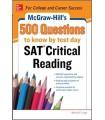 کتاب اس ای تی McGraw-Hill's 500 SAT Critical Reading Questions to Know by Test Day