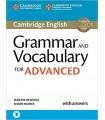 کتاب سی اِی ای Grammar and Vocabulary for Advanced Book